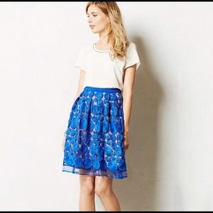 EUC Anthropologie Eva Franco Albastru Skirt